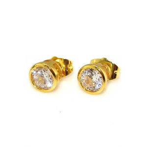 Other - 😍 GORGEOUS Round 14K Gold-plated CZ Studs 😍
